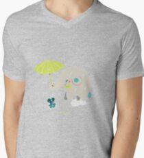 Un éléphant amoureux T-shirt col V homme