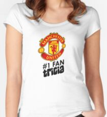 Manchester United #1 Fan - TRICIA (Customize your own name!) Women's Fitted Scoop T-Shirt