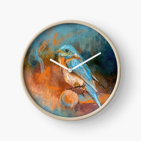 A Splash of Bluebird Clock