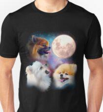 Pomeranian Dogs Howling Moon - Wolves Unisex T-Shirt
