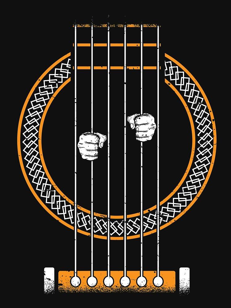Camisa de guitarra eléctrica de WarmfeelApparel