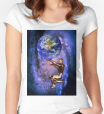 Atlas of the future Women's Fitted Scoop T-Shirt