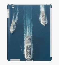 USNS Matthew Perry, USS Pearl Harbor and HMNZS Canterbury transit the Vella Gulf. iPad Case/Skin