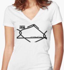 Traffic Jam Women's Fitted V-Neck T-Shirt