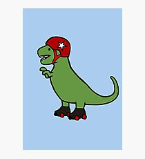 Roller Derby T-Rex Photographic Print