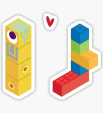Love at first block Sticker