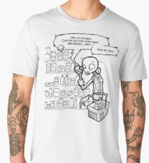 Necromania; Zombie at the store talking in phone Men's Premium T-Shirt