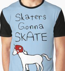 Skaters Gonna Skate (Unicorn Roller Derby) Graphic T-Shirt