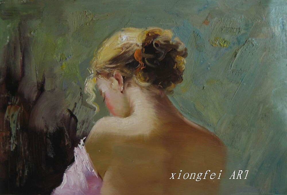 woman portrait oil painting by niuniu