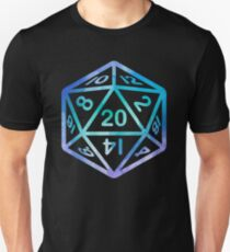 20 face dice sticker D&D Unisex T-Shirt