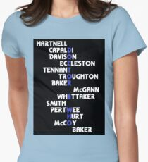 Doctors Who? v4: DoctHer Who Womens Fitted T-Shirt
