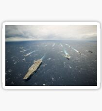 The George Washington Strike Group and Japan Maritime Self-Defense Force ships. Sticker