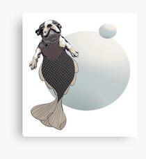 Blithe the Boston Terrier Merpup Canvas Print