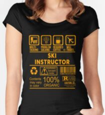 SKI INSTRUCTOR - NICE DESIGN 2017 Women's Fitted Scoop T-Shirt