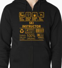SKI INSTRUCTOR - NICE DESIGN 2017 Zipped Hoodie