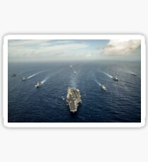 Formation of ships from the U.S. Navy, Indian Navy, and the Japan Self Defense Force. Sticker