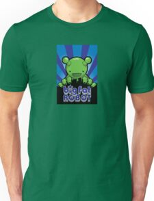 Big Fat Robot eats Melbourne - blue with logo T-Shirt