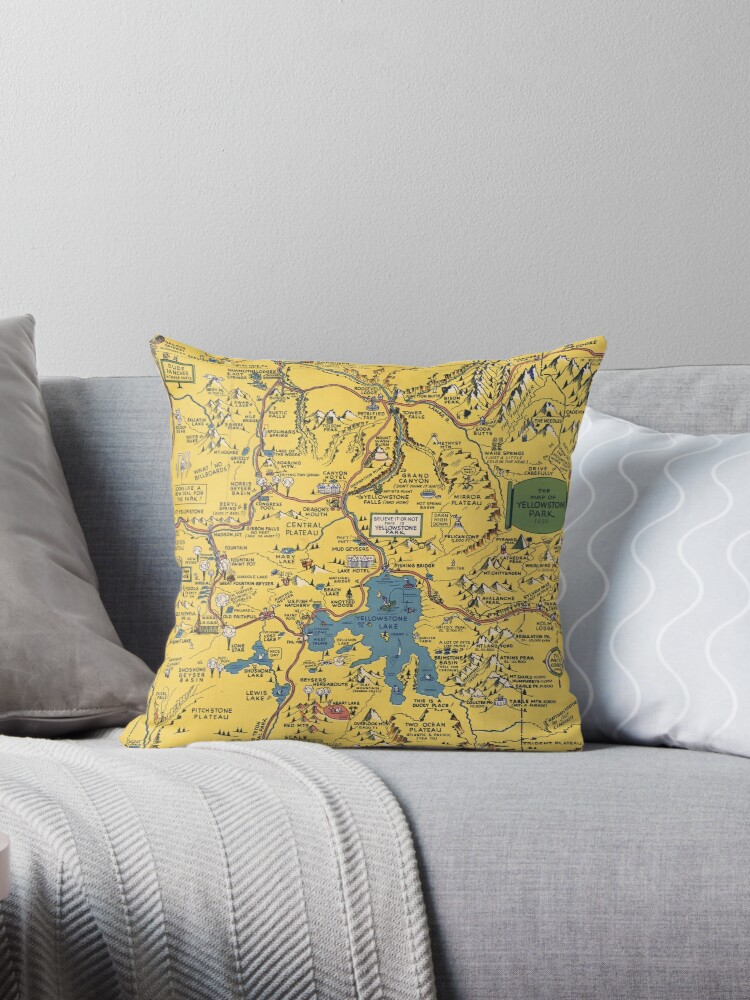 Quot Vintage 1930 Yellowstone National Park Map Special Gift