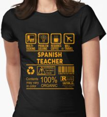 SPANISH TEACHER - NICE DESIGN 2017 Women's Fitted T-Shirt