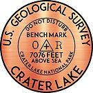 BENCHMARK CRATER LAKE OREGON GEOCACHING MOUNTAINS HIKING CLIMBING by MyHandmadeSigns
