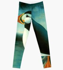 Puffin on a Cliff Leggings