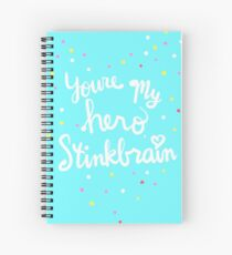 Stinkbrain's Hero Medal [I'm gonna wreck it!] Spiral Notebook