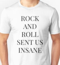 Rock And Roll Sent Us Insane, Kasabian Goodbye Kiss Lyric T-Shirt