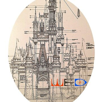 WED Imagineering Castle Schematic by Susealycone