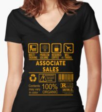 ASSOCIATE SALES - NICE DESIGN 2017 Women's Fitted V-Neck T-Shirt