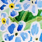 Forget-me-not flowers in the summer by DucatiCatArt