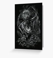 Death Dragon Greeting Card