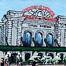 Union Station in Denver - painting  by jjuno