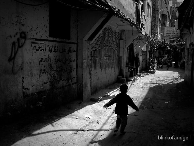 Shatila refugee camp in Beirut by blinkofaneye