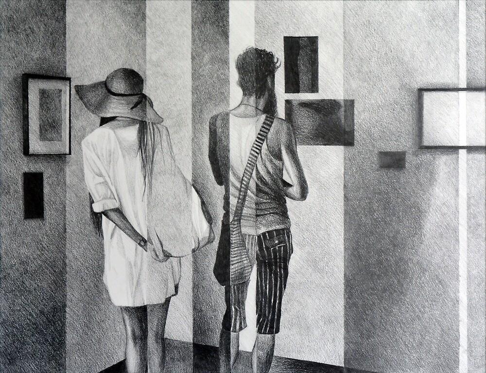 Looking Outside Inside, 2016, 50-65cm, graphite crayon on paper by oanaunciuleanu