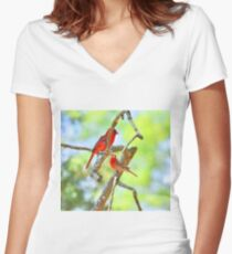 Hanging Out Women's Fitted V-Neck T-Shirt