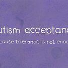 autism acceptance white/violet by ShopAWN