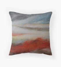 Red sand DUNE 2 Throw Pillow