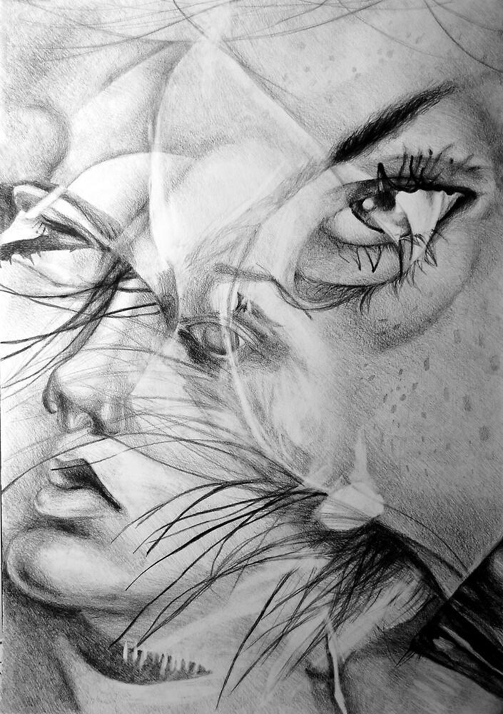 Incantation, 2016, 50-70 cm, graphite crayon on paper by oanaunciuleanu