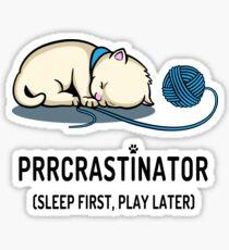 Prrcrastinator Sticker