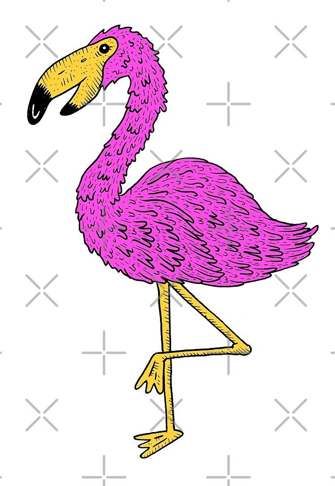 Flamingo! by wolfmaskart