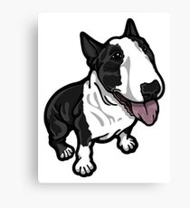 Happy Black and White Bully Canvas Print