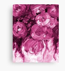 Wine Roses Painting 170601 Canvas Print