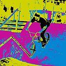 """Hitting the Ramp"" - BMX Biker by NaturePrints"