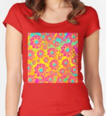 Floral Pattern No.3 Women's Fitted Scoop T-Shirt