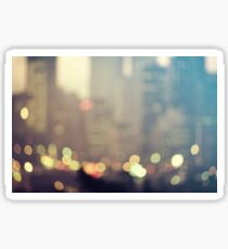 New York City Lights at Dusk Sticker