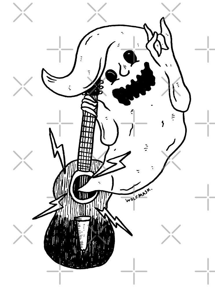 Ghost Guitar by wolfmaskart