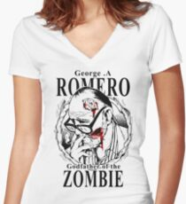 George Romero Women's Fitted V-Neck T-Shirt