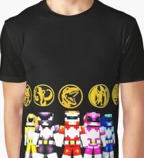 Mighty Morphin Minecraft Rangers Graphic T-Shirt