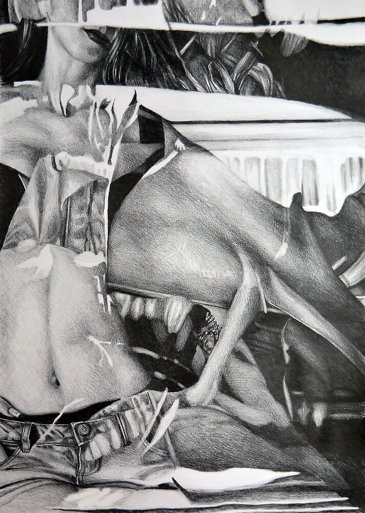 I took a trip on the inside, 2016, 50-70cm, graphite crayon on paper by oanaunciuleanu
