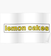 lemon cakes Poster